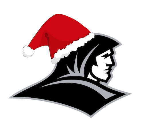 providence college friar logo with a santa hat