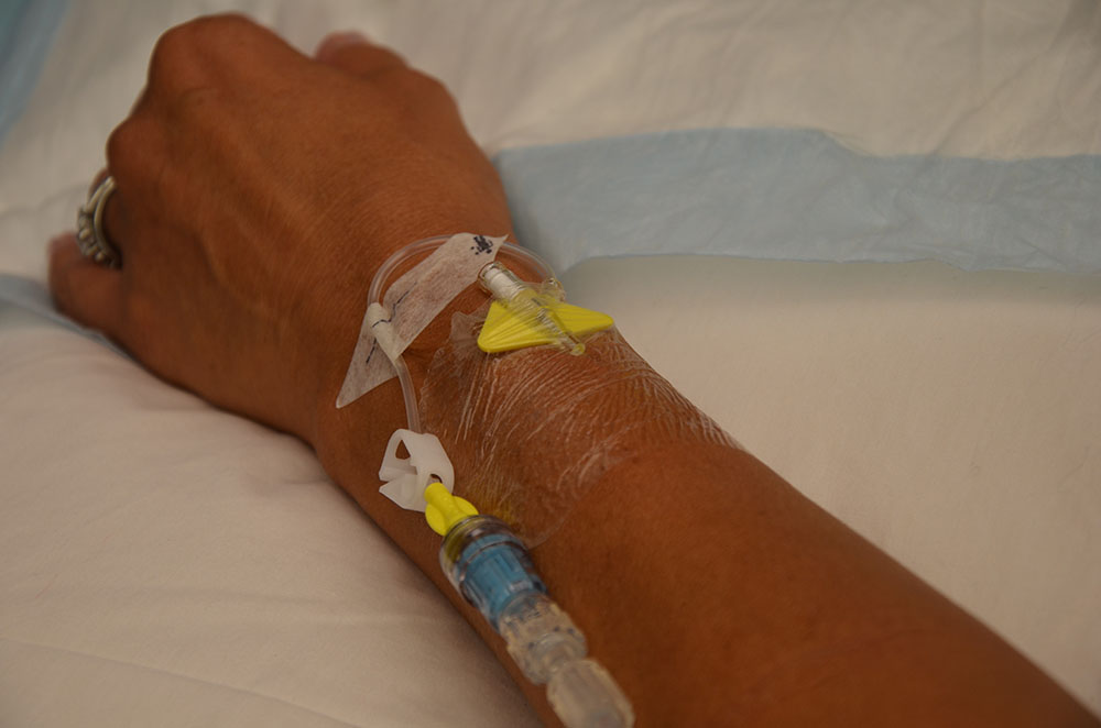 arm with IV