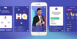 An ad with Scott Rogowsky hosting HQ Trivia in front of thousands of participants almost daily.