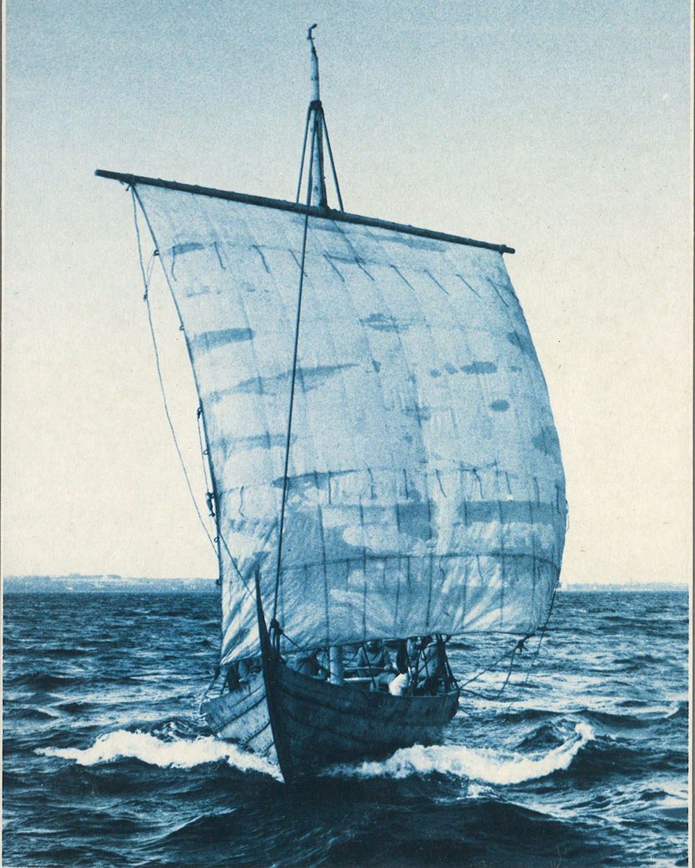 Trireme in the sea