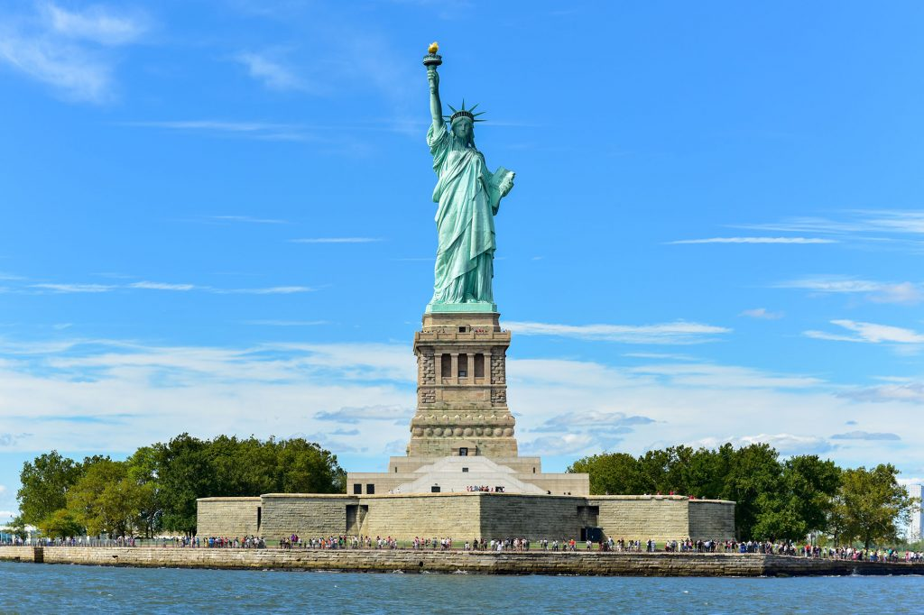 The Statue of Liberty in New York City.