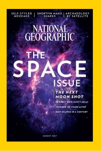 """""""The Space Issue"""" cover of National Geographic"""