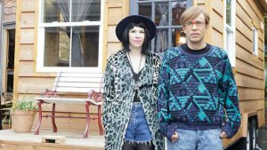 Carrie Brownstein and Fred Armisen pose for a photo to promote their hit series, Portlandia.