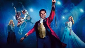 A promotional poster for the hit film, The Greatest Showman, starring Hugh Jackman