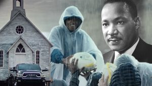 Reverend Martin Luther King Jr. was featured in a Rams truck ad.