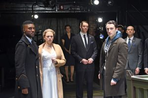 Jude Sandy, Rebecca Gibe, Angelia Brazil, Brendan Hickey, and Charlie Thurston pose during a rehearsal for Trinity Rep's production of Othello