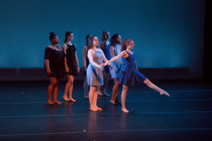 The Providence College Dance Company performing at the spring dance concert.