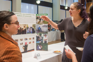 Isabella Christilles '19 presents her research to attendees at the Celebration of Scholarship and Creativity