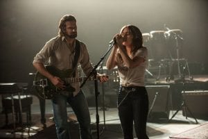 Bradley Cooper (left) and Lady Gaga (right) have been praised for their on-screen chemistry in A Star Is Born.