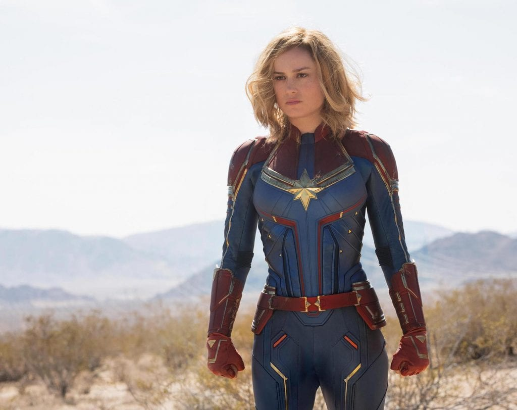 An exclusive first look of Brie Larson as Captain Marvel.