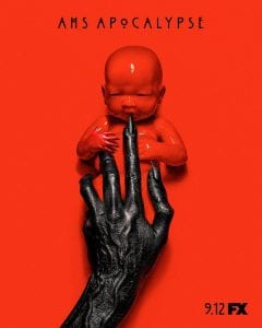 promotional poster for the FX series American Horror Story: Apocalypse