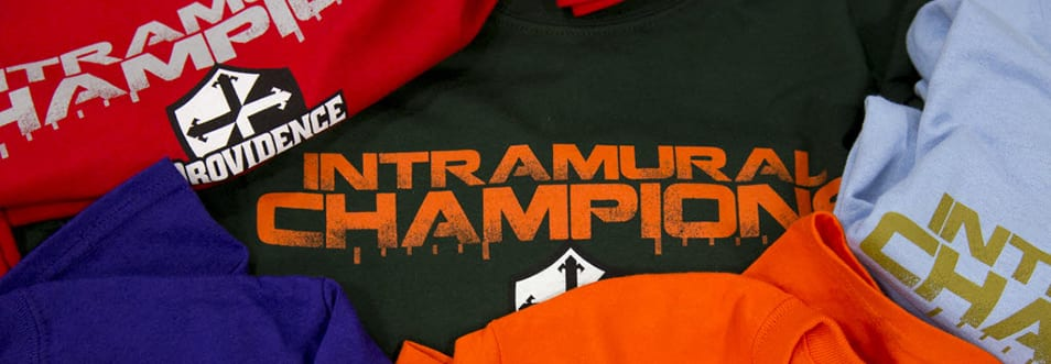 Photo of intramural champion t-shirts.