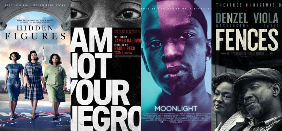 Hidden Figures, I Am Not Your Negro, Moonlight, Fences Compilation