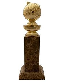 Golden globe trophy.