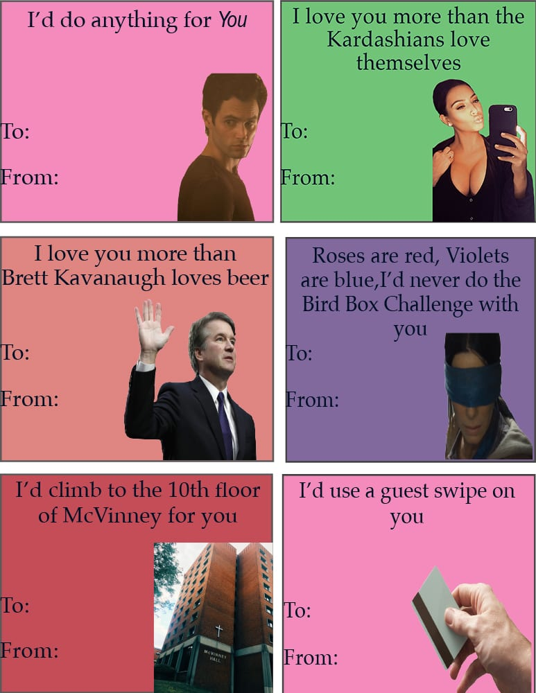 Valentine cutout cards