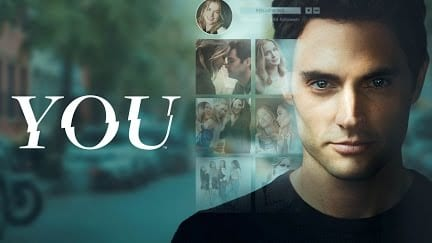 "Poster of the Netflix show ""You."""