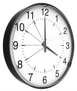 A broken clock with a sped up small hand