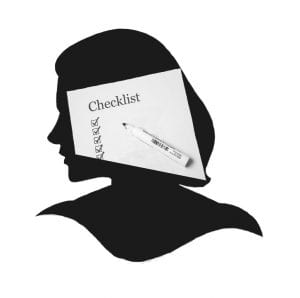 Woman who fits all the criteria as ascribed by the checklist in her head