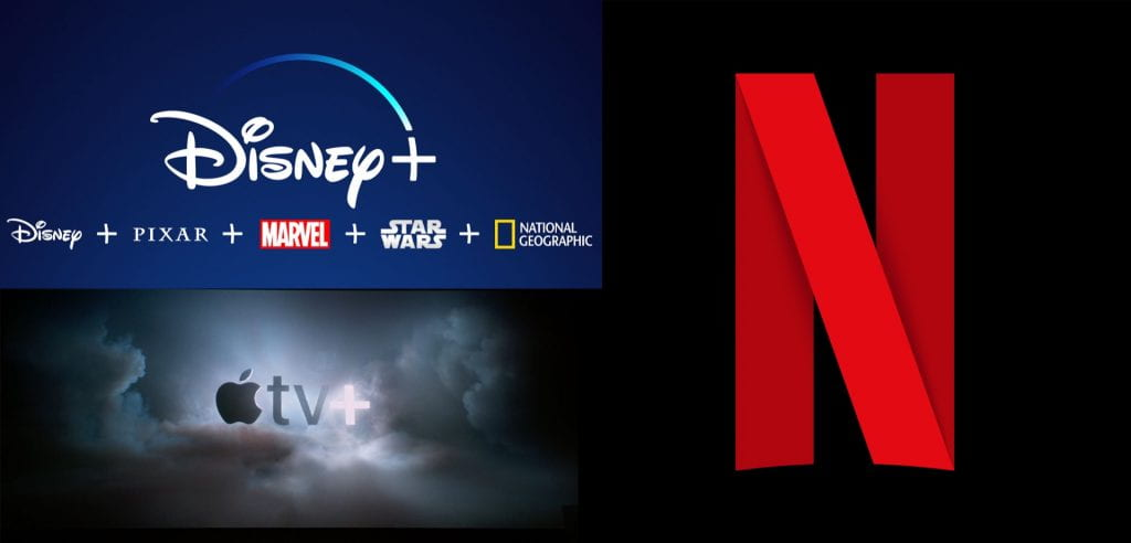 Disney +, Apple TV +, Netflix streaming services