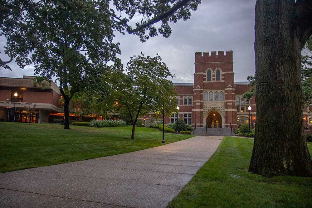A shot of the Ruane Center for Humanities