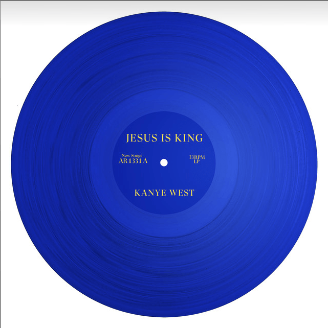 JESUS IS KING Kanye album cover blue circle