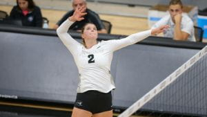 providence college volleyball Addison root 1,000 kills