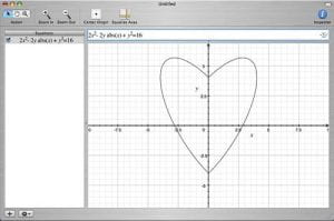 Math grid with a heart on it