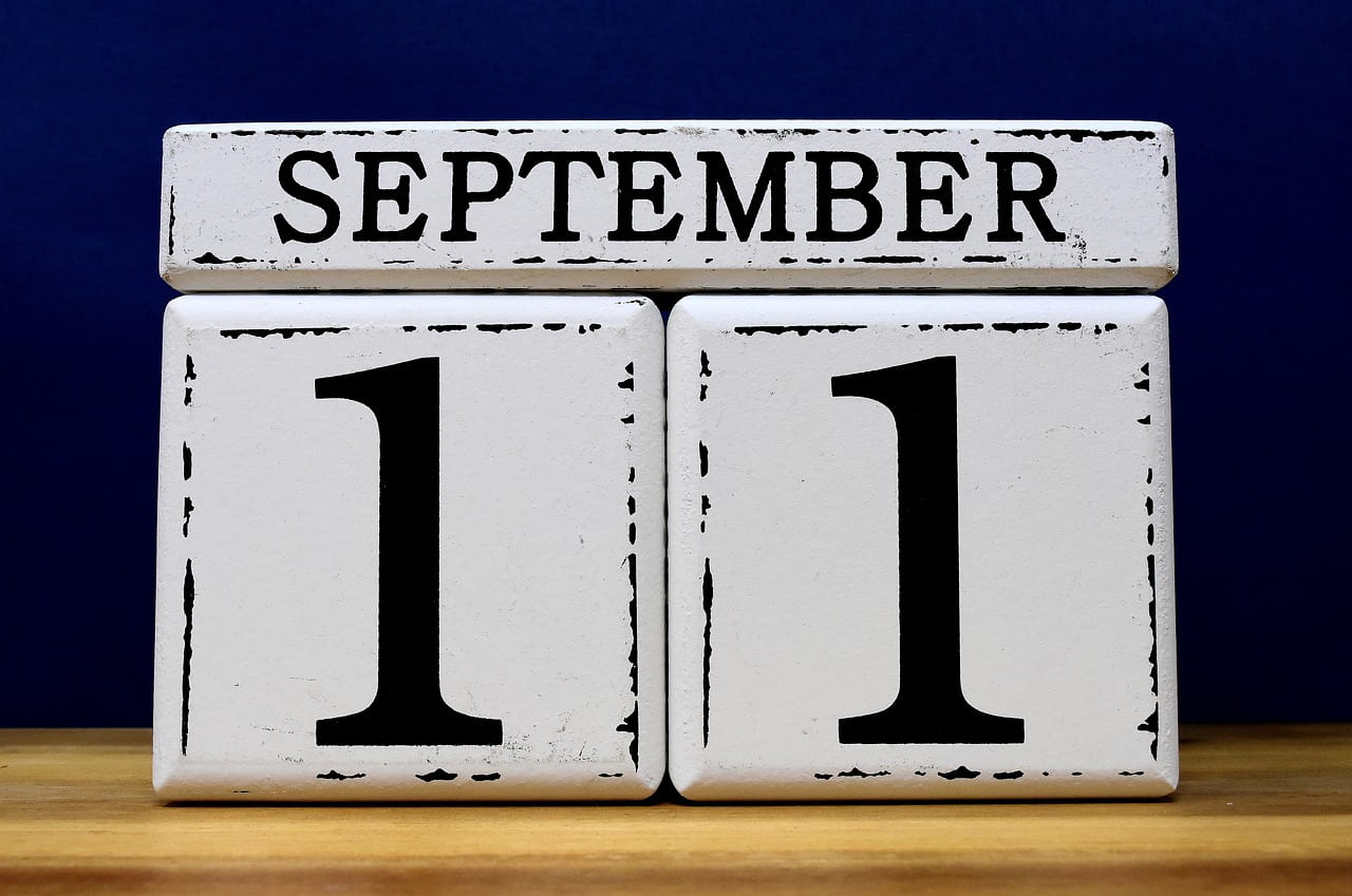 Calendar with date of September 11th