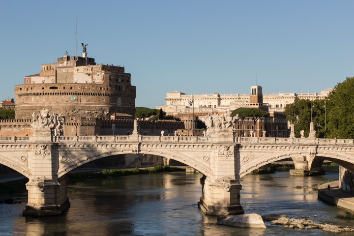 View of the Castel Sant'Angelo from the Tiber