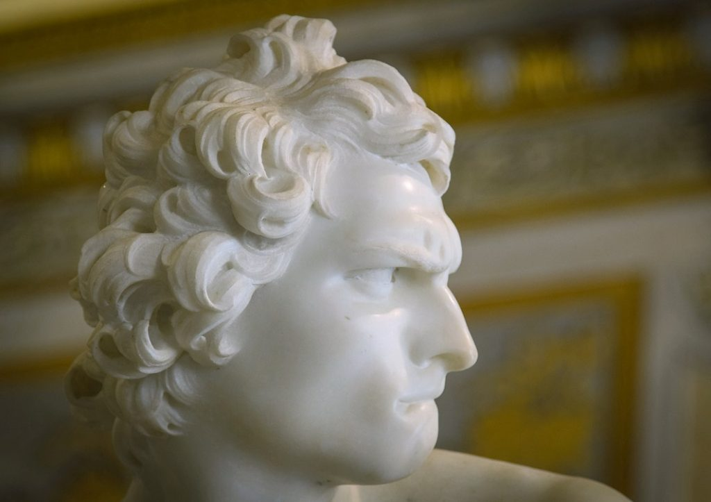 Detail Bernini's David