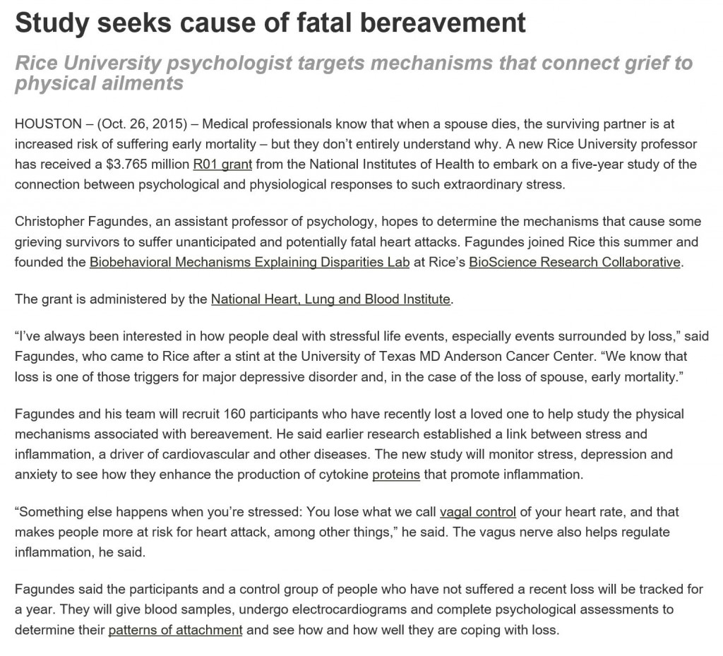 bereavement article pt1