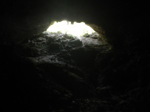 A look back at the cave entrance before we ventured further into the dark zones