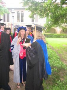 Commencement, 2005, with RA Katie Beth Higgins
