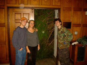 Unusual Student Problems—Giant Christmas Tree Stuck in Stairwell outside of Commons, November, 2004