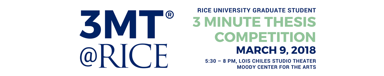Rice University Three Minute Thesis