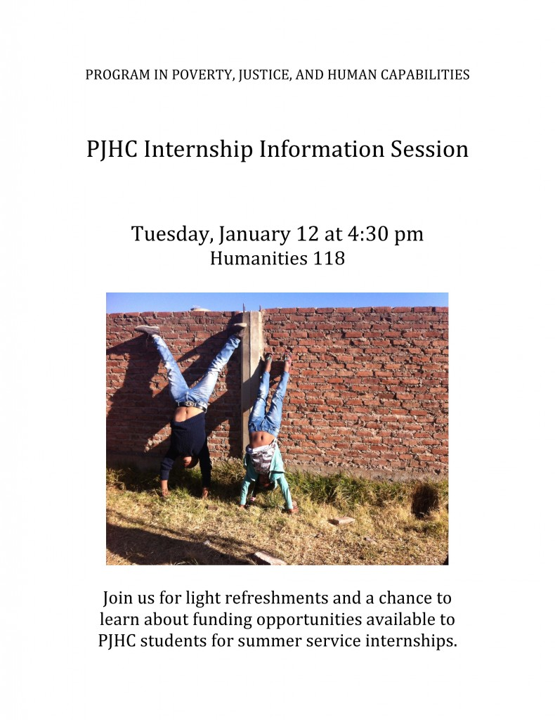 PJHC InternshipInfoSessionFlyer_January