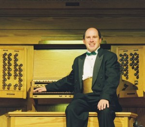 John Cannon at the organ. Photo credit John Cannon