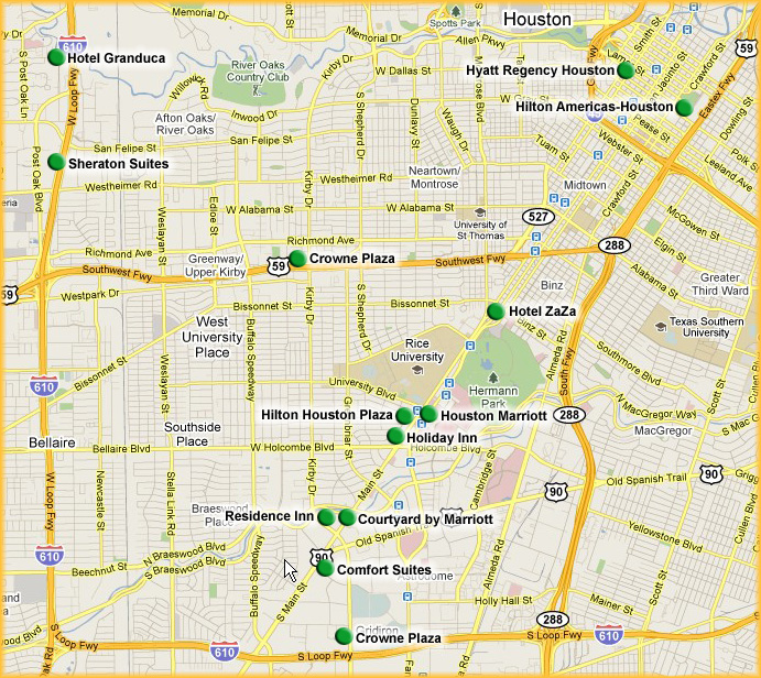 Medical Center Houston Map.Rice Networks Group
