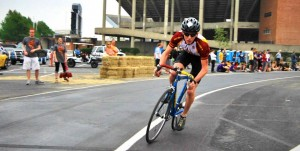 Alex Schmidt, biking for Will Rice