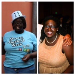 Me on the first day of O-Week 2012 (left). Me at Esperanza (Rice's Homecoming formal) 2015 (right)! Look how I've changed!