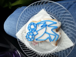 More Reality: my only picture from Owl Days 2015 happens to be an appreciation of this artistic and tasty owl.