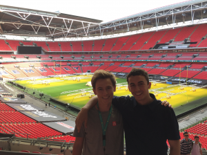 Me and Sam Levy (Will Rice '18) visiting Wembley. Sam's a decent guy, even if he's not a confirmed Chelsea supporter.