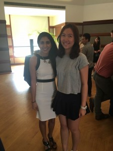 Athena with committee head from Academic Committee, Komal(currently SA internal vice president)
