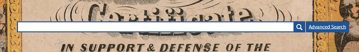 Screenshot of the National Archives catalog search bar.