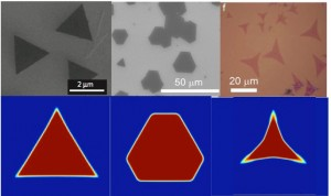 Phase-field simulation of 2D crystal growth process during vapor deposition