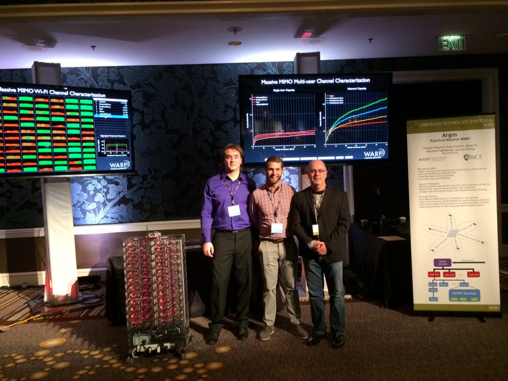 (L to R) Clay Shepard, Evan Everett and Chris Dick (Xilinx) at Xilinx's 30th Year Worldwide Conference.