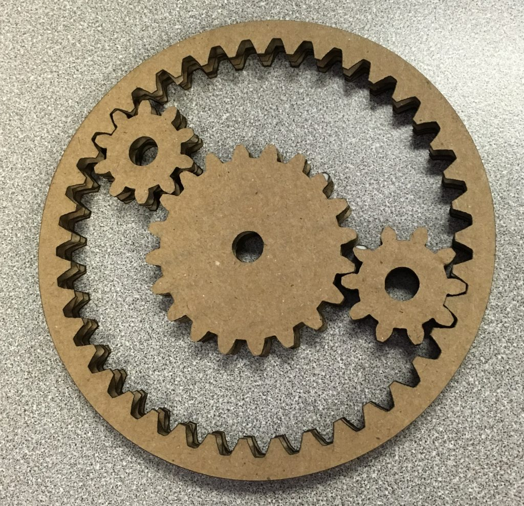 how to make gears for school project