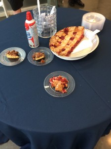 March 14 is pie day in the U.S. I ate large amount of pie in many places at Rice.