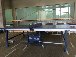 Ping Pong at Rice gym: I played ping-pong with Prof. Kono and Jin at Rice Gym.