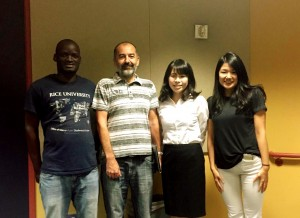 Thank you very much to my mentors of Ajayan group: From the left, Peter, Dr. Robert Vajtai, me and Keiko.